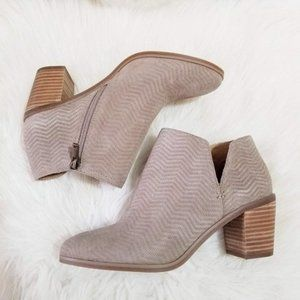 NWT Lucky Brand Tan Leather Suede Ankle Booties